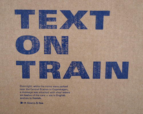 text on train